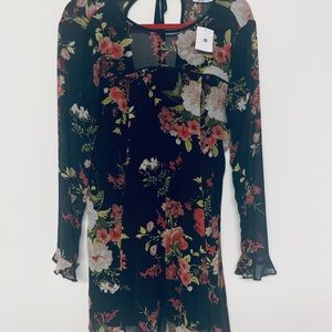Urban Outfitters Floral Black Dress